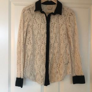 Stunning lace blouse from Anthropologie!